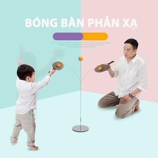 [MIỄN SHIP] Bộ bóng bàn 3 bóng vợt gỗ luyện phản xạ thể dục mọi lúc mọi nơi - BONGBAN7 4