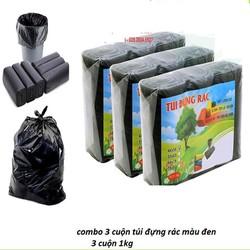 combo 3 cuộn túi đựng rác (1kg)
