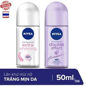 Combo 2 chai lăn khử mùi Nivea hàng nhập khẩu 50ml/chai - 2 Lăn NIVEA NỮ 50ml