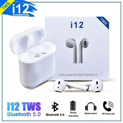 Tai Nghe Bluetooth i12 Cảm Ứng Vân Tay 5.0