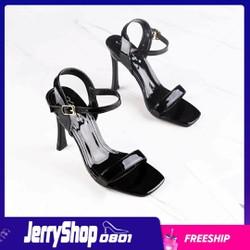 Giày Sandal cao gót 10p quai mảnh gót dẹt siêu hot mẫu mới
