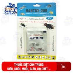 Thuốc diệt côn trùng, ruồi, muỗi, gián, kiến, ve, bọ chét Hantox-200 gói 5ml