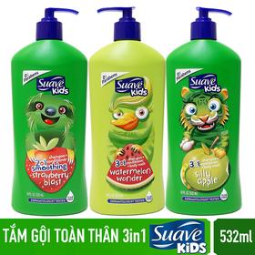 Sữa tắm gội toàn thân Suave Kids USD 532ml/chai - SUAVE KIDS 532ML