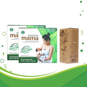 Combo 3 hộp xông tắm sau sinh Dao'spa mama và 1 hộp xông ngâm vùng kín Yaocare mama - DK Pharma - COMA003