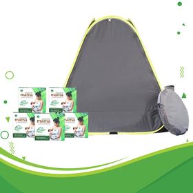Combo 5 hộp xông tắm sau sinh Dao'spa mama DK Pharma và Lều xông cao cấp tự bung - COMA005
