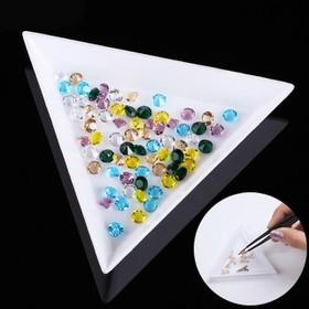 Bộ 2 Khay tam giác bỏ đá làm nail - 825