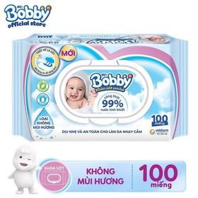 Khăn ướt trẻ em Bobby 100 miếng - Bobby 100 miếng