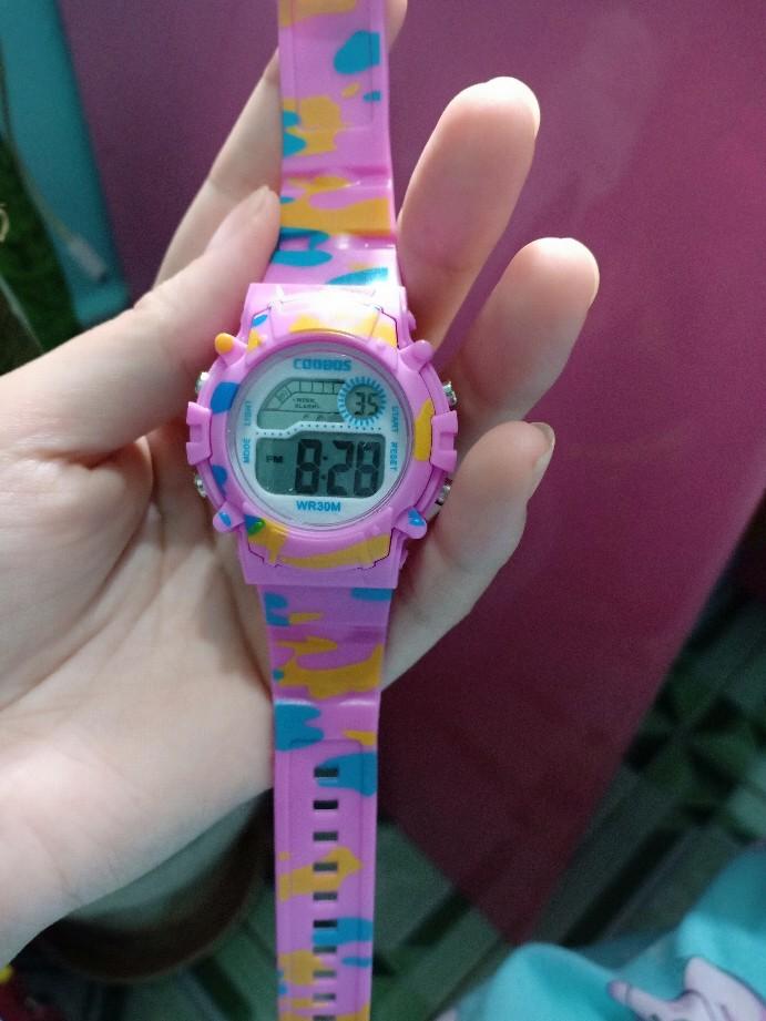[MIỄN PHÍ GIAO HÀNG] Đồng hồ trẻ em đa chức năng kết hợp hiệu ứng đèn Lex 7 màu chính hãng Coobos - COOBOS 10