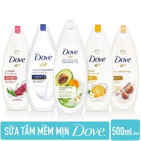 Combo 2 Chai Sữa Tắm DOVE Mềm Mịn nhập khẩu từ ĐỨC 500ml/chai - 2 TẮM DOVE ĐỨC