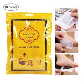 Combo 10 miếng dán thải độc bàn chân Lanna Foot Patch Thái Lan - Hỗ Trợ Vận Chuyển 20k