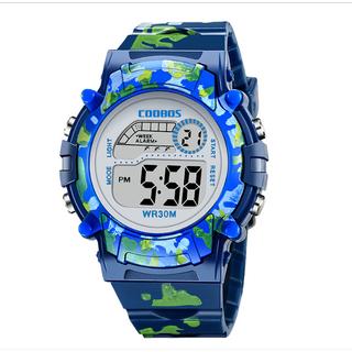 [MIỄN PHÍ GIAO HÀNG] Đồng hồ trẻ em đa chức năng kết hợp hiệu ứng đèn Lex 7 màu chính hãng Coobos - COOBOS thumbnail
