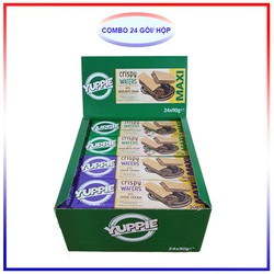 Combo 24 Mix Bánh Xốp Yuppie 90G (12 cacao, 12 hạt dẻ)