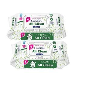 Combo 2 gói khăn ướt Unifresh All clean 100 M - khăn giấy ướt loại 100 tờ - A100-2