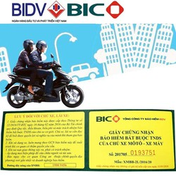 Bảo hiểm xe máy BIDV bắt buộc 2 năm