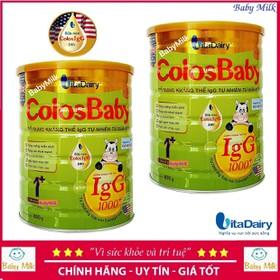 Combo 2 lon sữa colosbaby gold 1+ 1000igG 800g - Combo 2 lon sữa colosbaby gold 1+