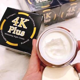 Kem Dưỡng Trắng Da Mặt 4K PLUS Whitening Night Cream Thái Lan Tặng Kem Trị Thâm Nách Q-Nic - Chăm Sóc DA