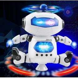 Double It ROBOT ĐỒ CHƠI THÔNG MINH XOAY 360 ĐỘ HIỆU ỨNG ĐÈN ĐẸP MẮT