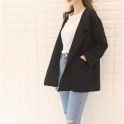 Áo Blazer nữ đen trơn
