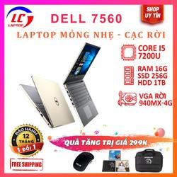 Laptop gaming cũ - Dell 7560 core i5-7200u cạc rời màn 15.6inch fullhd ips, chơi game đồ họa giá rẻ
