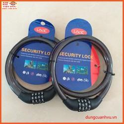 Khóa dây cáp mật khẩu 4 số 15x1000mm