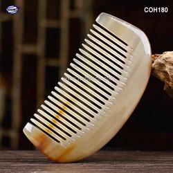 Lược sừng múi bưởi mini xuất Nhật (Size: XS – 9cm) Phụ kiện bỏ túi tiện dụng – COH180- Horn Comb of HAHANCO