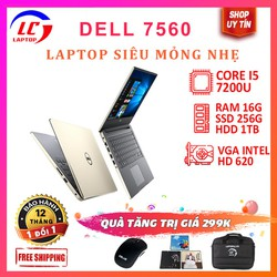 Laptop gaming cũ dell 7560 core i5 màn 15.6inch FullHD IPS, viền siêu mỏng, laptop chơi cũ chơi game đồ họa giá rẻ