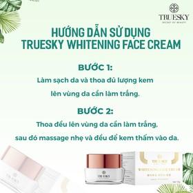 Kem dưỡng trắng da mặt Truesky giúp da căng mịn, giảm thâm nám tàn nhang 15g - Whitening Face Cream - TRUESKY_FACE15G-4