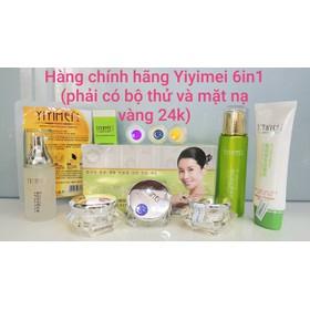 Yiyimei chính hãng, Bộ mỹ phẩm Yiyimei 6in1, đặc trị nám, tàn nhang kết hợp làm trắng da (phải có bộ thử và mặt nạ vàng 24k) - Yiyimei chính hãng 6in1