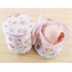 túi giặt đồ lót vớ tất đồ trẻ sơ sinh chất lượng cao có dây khóa và móc phơi khô chất liệu lưới tổ ong kích thước 15 x16 cm