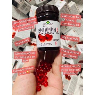 Vitamin E đỏ Mirrolla hộp 30 viên Chính Hãng - Vitamin E đỏ dạng lọ Nga 3