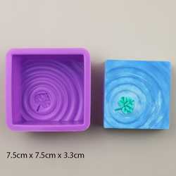 Combo 2 khuôn silicon đổ xà bông xà phòng handmade vân sóng