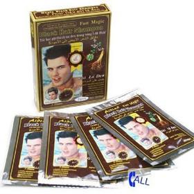 [MIỄN PHÍ VẬN CHUYỂN] Dầu Gội Đen Tóc - Dầu Gội Đen Tóc Black Hair Shampoo Hộp 2 Gói - NGMFG