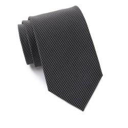 Cravat Calvin Klein đen, chấm bi trắng nhỏ