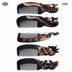 Lược sừng trâu 12 con giáp - quà tặng ý nghĩa (Size: L - 18cm) Horn Comb of HAHANCO - Chăm sóc tóc