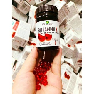 Vitamin E đỏ Mirrolla hộp 30 viên Chính Hãng - Vitamin E đỏ dạng lọ Nga 4