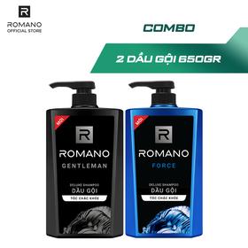 Combo Dầu gội Romano Gentleman 650gr và Dầu gội Force 650gr - CB01WP100182