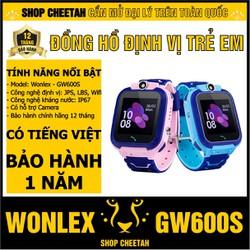 Đồng hồ định vị trẻ em Wonlex GW600S – CHÍNH HÃNG – Kháng nước IP67 – Camera – Wifi/Lbs/Gps – Tiếng Việt – Bảo hành 1 năm