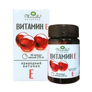 Vitamin E đỏ Mirrolla hộp 30 viên Chính Hãng - Vitamin E đỏ dạng lọ Nga thumbnail