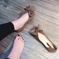 Hỗ Trợ ship - giày bệt nữ thắt nơ dạ cực xinh