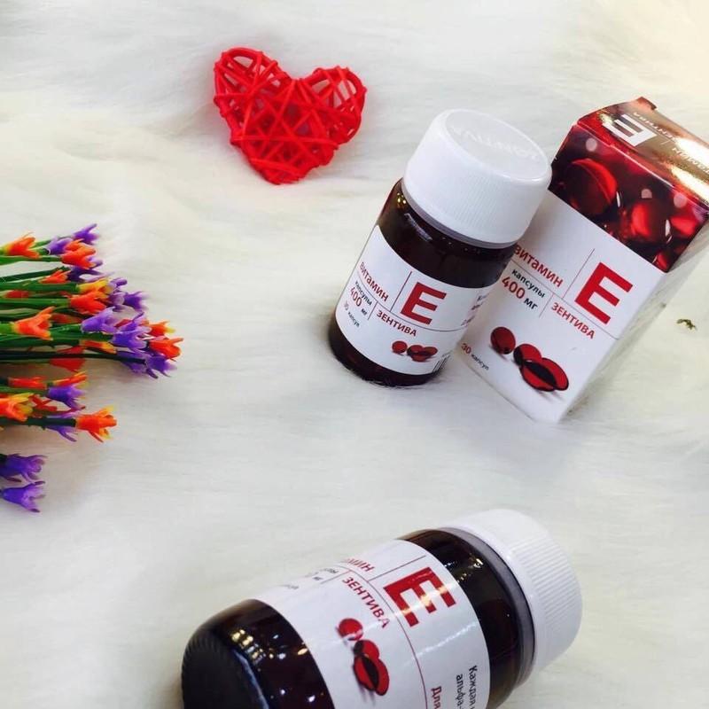 Vitamin E đỏ Mirrolla hộp 30 viên Chính Hãng - Vitamin E đỏ dạng lọ Nga 2