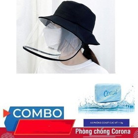 ComBo Nón Chống Dịch Có Màng Bảo Vệ Chắn Bụi Bẩn và Xà Phòng COAST Mỹ - CNCDC1