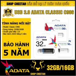 USB 3.0 ADATA. Classic C906  Dung Lượng 32GB/16GB – CHÍNH HÃNG – Bảo hành 5 năm