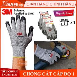 Găng tay chống cắt 3M cấp độ 1, độ khéo léo cao, linh hoạt, ôm tay, chống giãn, chống trơn trượt, bao tay bảo hộ cơ khí, kỹ thuật, làm vườn