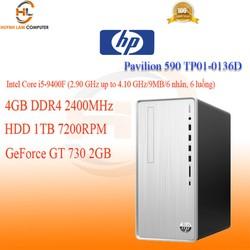 Máy tính bàn HP Pavilion 590 TP01-0136d (7XF46AA) i5-9400F 4GB/1TB HDD/GeForce GT 730 2GB/Win10
