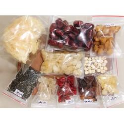 Set nguyên liệu nấu chè dưỡng nhan đủ 10 vị 500g