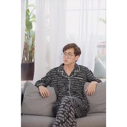 Bộ Quần Áo Dài Tay Mặc Nhà, Bộ Đồ Mặc Đôi Nam Nữ, Bộ Pijama Dài Tay Nam Nữ Chất Lụa