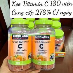 Kẹo dẻo Vitamin C Kirkland 250mg 180 viên Mỹ tăng sức đề kháng