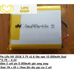 Pin LiPo NV 10000mAh 3.7V DUAL