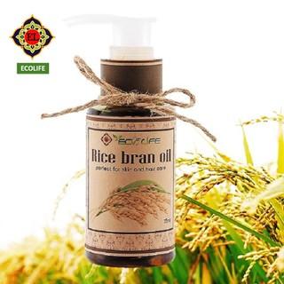 Dầu cám gạo Ecolife trắng da, chống nắng, dưỡng ẩm 75ml
