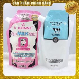 [GIAO NHANH 3H] (Date: 24 tháng) [ GIÚP DA MỀM MẠI VÀ TRẮNG MỊN ] 01 túi x 350gr Muối tắm sữa bò tẩy tế bào chết A Bonne Spa Milk Salt Thái Lan. - 1 túi x 350gr